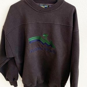 Pebble beach black crewneck sweatshirt